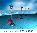 Tidal Energy  Generator In The...