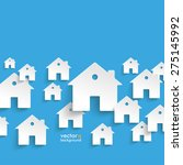 infographic with white houses... | Shutterstock .eps vector #275145992