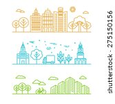 vector city illustration in... | Shutterstock .eps vector #275150156