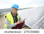mature engineer on building... | Shutterstock . vector #275150882