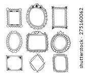 collection of hand drawn frames.... | Shutterstock .eps vector #275160062