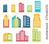 building icons set in color.... | Shutterstock .eps vector #275160152