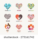 set of vector heart icons ... | Shutterstock .eps vector #275161742