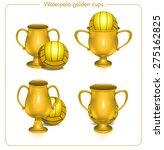 golden cup sport trophies ... | Shutterstock .eps vector #275162825