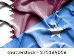 waving flag of somalia and qatar   Shutterstock . vector #275169056