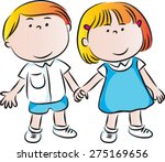 school kids | Shutterstock .eps vector #275169656