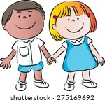 school kids | Shutterstock .eps vector #275169692
