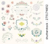 floral graphic set with swirls  ... | Shutterstock .eps vector #275174852