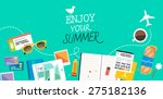 vector illustration with... | Shutterstock .eps vector #275182136