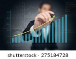 investor with growth chart of... | Shutterstock . vector #275184728
