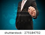 investor with growth chart of... | Shutterstock . vector #275184752