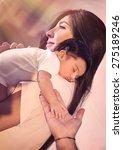 cute adorable newborn daughter... | Shutterstock . vector #275189246