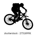 vector jump with a mountain... | Shutterstock .eps vector #27518998