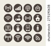 wi fi icons | Shutterstock .eps vector #275190638