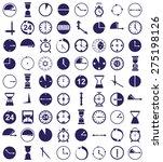 blue icons on a white... | Shutterstock .eps vector #275198126
