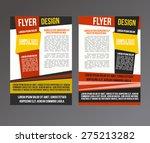 abstract brochure design.flyer... | Shutterstock .eps vector #275213282