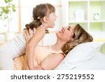 happy middle aged mother... | Shutterstock . vector #275219552