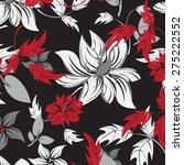 seamples vector flower pattern  | Shutterstock .eps vector #275222552