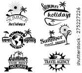 vintage summer typography... | Shutterstock .eps vector #275227226