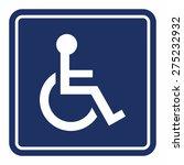handicap  wheelchair person sign | Shutterstock .eps vector #275232932