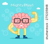 mighty mind concept. brain with ... | Shutterstock .eps vector #275235848