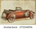 vintage car | Shutterstock . vector #275240096