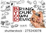byod concept bring your own... | Shutterstock . vector #275243078
