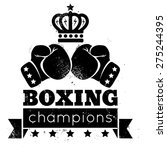 vintage logo for boxing with... | Shutterstock .eps vector #275244395