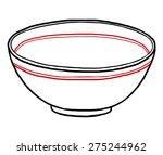 bowl   cartoon vector and...   Shutterstock .eps vector #275244962
