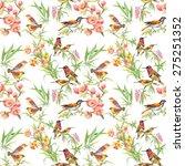 watercolor wild exotic birds on ... | Shutterstock . vector #275251352
