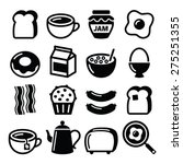 breakfast food vector icons set.... | Shutterstock .eps vector #275251355