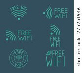 set of wifi logos.