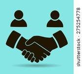 handshake vector icon | Shutterstock .eps vector #275254778