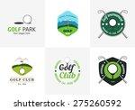 set of vintage color golf...   Shutterstock .eps vector #275260592