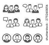 business persons. icons set.  | Shutterstock .eps vector #275260856
