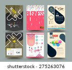 set of abstract modern cover ... | Shutterstock .eps vector #275263076