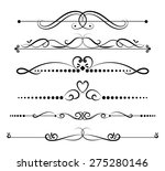 set of page decoration line... | Shutterstock .eps vector #275280146