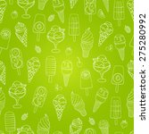 cute seamless ice cream pattern.... | Shutterstock .eps vector #275280992