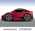 vector modern cartoon car ... | Shutterstock .eps vector #275283026
