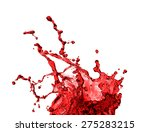 red juice splash closeup... | Shutterstock . vector #275283215