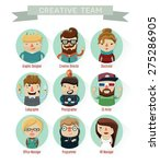 set of creative people ... | Shutterstock .eps vector #275286905