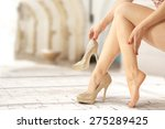 woman on street and break  | Shutterstock . vector #275289425