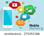 mobile marketing concept with...   Shutterstock .eps vector #275292188