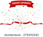 grand opening background with... | Shutterstock .eps vector #275292332