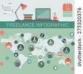 freelance infographic template. ... | Shutterstock .eps vector #275320376