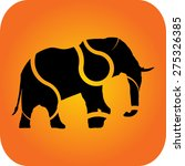elephant silhouette with... | Shutterstock .eps vector #275326385