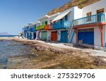 traditional boathouses in klima ... | Shutterstock . vector #275329706