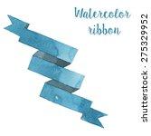watercolor ribbons in vector | Shutterstock .eps vector #275329952