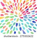 Vector Watercolor Colorful...