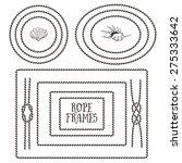 rope frames  borders  knots.... | Shutterstock .eps vector #275333642